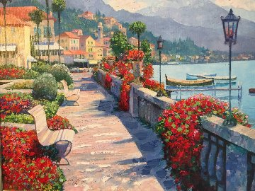 Along Lake Como #1 2007 Embellished Limited Edition Print - Howard Behrens