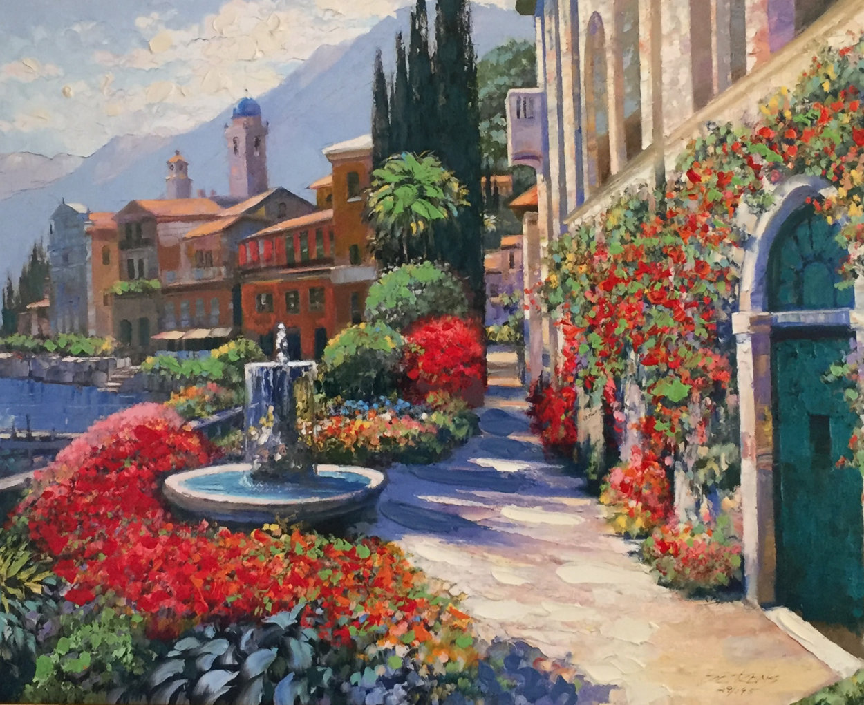 Along Lake Como #2 2007 Embellished Limited Edition Print by Howard Behrens