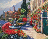 Along Lake Como #2 2007 Embellished Limited Edition Print by Howard Behrens - 2