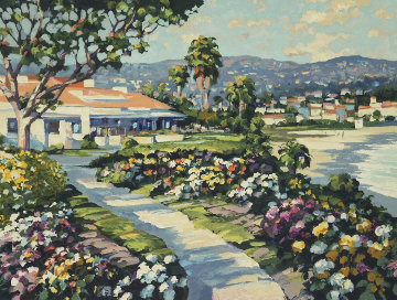 Grove Street and Las Brisas, Laguna Beach, Suite of 2 Prints 1994 Limited Edition Print - Howard Behrens