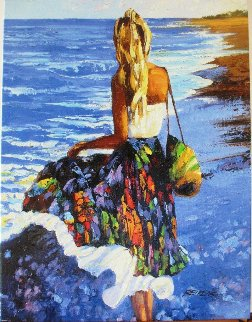 My Beloved By the Sea 2010 Embellished Limited Edition Print - Howard Behrens