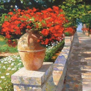 Villa Cimbrone 2010 Embellished Limited Edition Print - Howard Behrens
