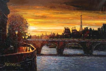 Twilight on the Seine II 2010 Embellished Limited Edition Print by Howard Behrens