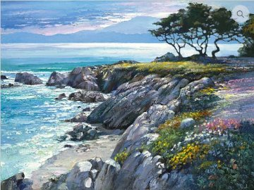 Monterey Bay After the Rain 2010 Embelished Limited Edition Print - Howard Behrens
