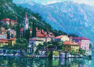 Reflections of Lake Como 2000 Embellished Limited Edition Print by Howard Behrens