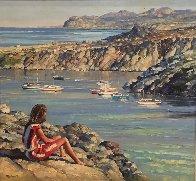 Untitled Seascape 49x53 Super Huge Original Painting by Howard Behrens - 1