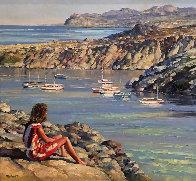 Untitled Seascape 49x53 Super Huge Original Painting by Howard Behrens - 0