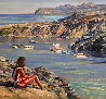 Untitled Seascape 49x53 Original Painting by Howard Behrens - 0