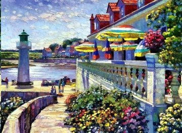 Lighthouse At Sazon 1990 Limited Edition Print by Howard Behrens