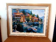Lake Como Landing 2000 Embellished Limited Edition Print by Howard Behrens - 1