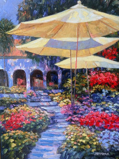 Mediterranean Gardens 2007 Embellished Limited Edition Print by Howard Behrens