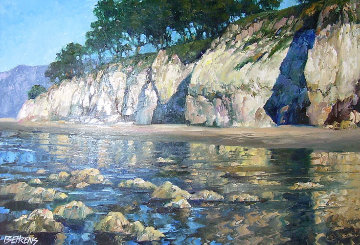 California Coast 28x42 Original Painting - Howard Behrens