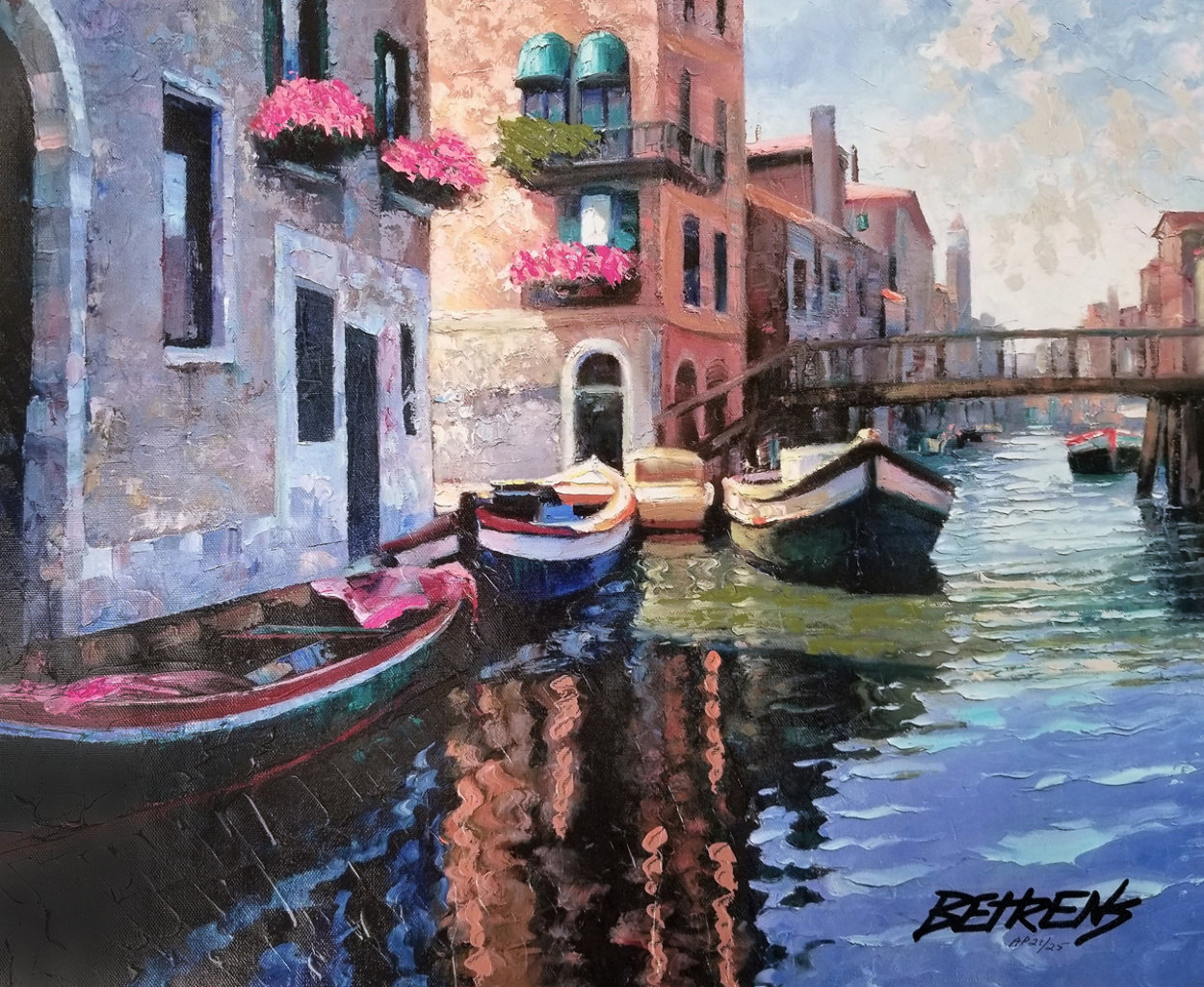Magic of Venice II AP  Embellished Limited Edition Print by Howard Behrens