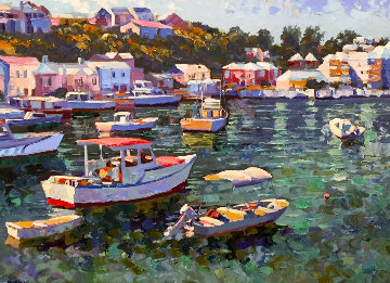 Bermuda 1991 Embellished  Limited Edition Print by Howard Behrens