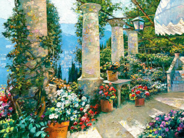 Hotel Capri 2002 Embellished Limited Edition Print by Howard Behrens
