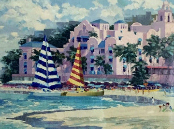 Royal Hawaiian 1989 Limited Edition Print by Howard Behrens