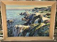 Monterey Walkway 44x56 Super Huge Original Painting by Howard Behrens - 1