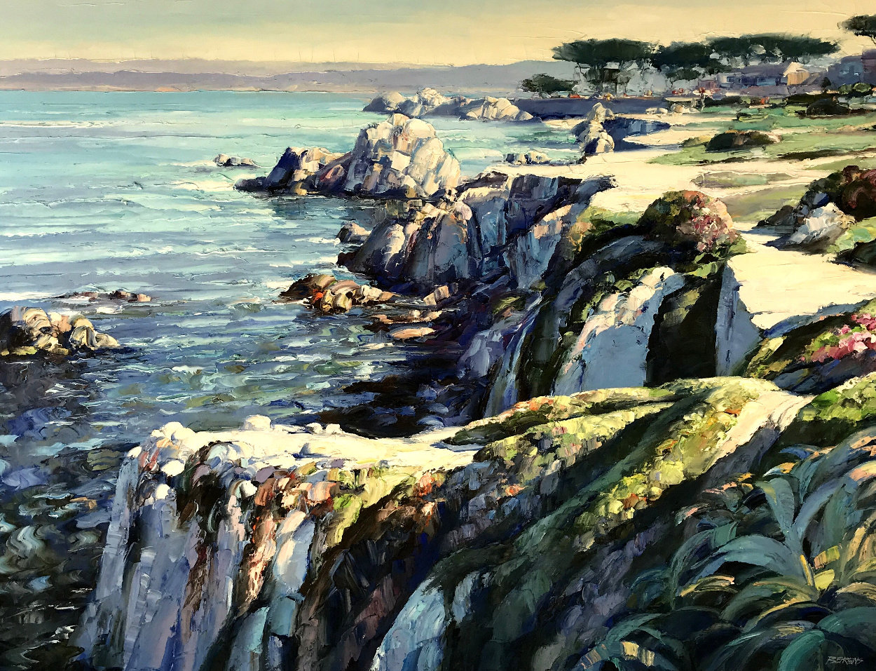 Monterey Walkway 44x56 Super Huge Original Painting by Howard Behrens