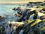 Monterey Walkway 44x56 Original Painting - Howard Behrens