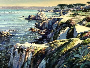 Monterey Walkway 44x56  Huge Original Painting - Howard Behrens