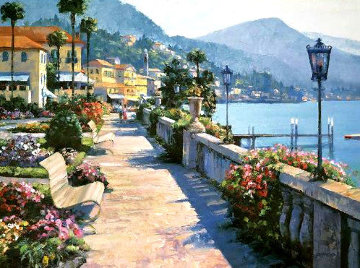 Bellagio Promenade 1991 Limited Edition Print - Howard Behrens