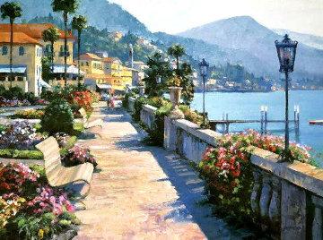 Bellagio Promenade 1991 Limited Edition Print by Howard Behrens