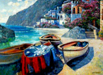 Isle of Capri Series, Variation #2 2007 30x40 Original Painting - Howard Behrens