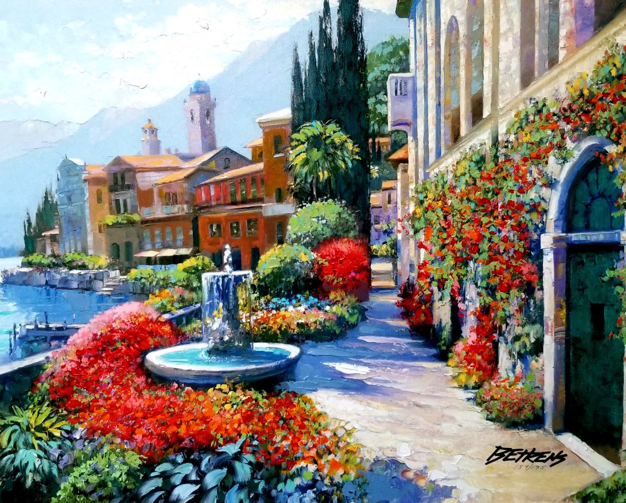 Splendor of Italy Embellished Limited Edition Print by Howard Behrens