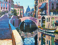 Reflections of Venice 1996 AP Limited Edition Print by Howard Behrens - 4