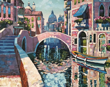 Reflections of Venice 1996 AP Limited Edition Print by Howard Behrens