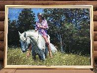 Dee Dee 1981 39x55 Super Huge Original Painting by Howard Behrens - 1