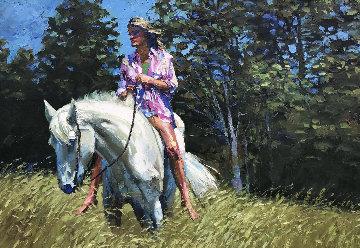 Dee Dee 1981 39x55 Huge Original Painting - Howard Behrens