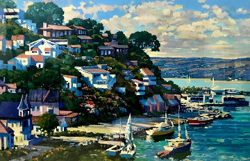 Sausalito Panoramas AP 1993 Limited Edition Print - Howard Behrens