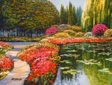 Tribute to Monet Series: Colors of Giverny 2011 Limited Edition Print - Howard Behrens