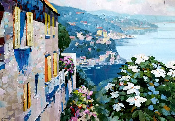 Mediterranean View AP 1990 Limited Edition Print - Howard Behrens