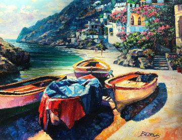 Remembering Capri 2009 30x40 Original Painting by Howard Behrens