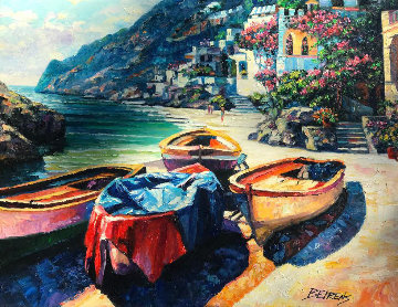 Remembering Capri 2009 30x40 Original Painting - Howard Behrens