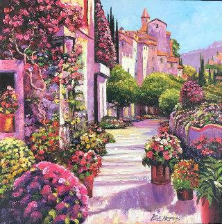 Burgundy Deja Vu 30 x 30 Original Painting by Howard Behrens