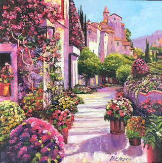 Burgundy Deja Vu 30x30 Original Painting by Howard Behrens