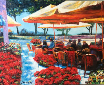 Remembering Ravello Original Painting by Howard Behrens