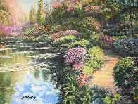 Giverny Path Heavily Embellished Limited Edition Print by Howard Behrens - 1