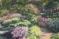 Giverny Path Heavily Embellished Limited Edition Print by Howard Behrens - 2
