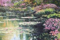 Giverny Path Heavily Embellished Limited Edition Print by Howard Behrens - 3