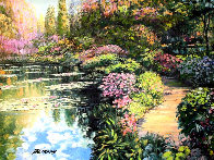 Giverny Path Heavily Embellished Limited Edition Print by Howard Behrens - 0