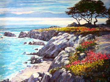 Monterey Bay After the Rain Embellished Limited Edition Print by Howard Behrens