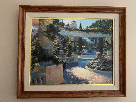 Bellagio Garden, Italy Embellished Limited Edition Print by Howard Behrens - 1
