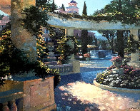 Bellagio Garden, Italy Embellished Limited Edition Print by Howard Behrens - 0