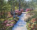 Azalea Hillside II 49x56 Original Painting - Howard Behrens