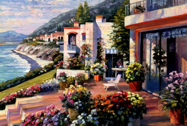 Pacific Patio 1996 Limited Edition Print by Howard Behrens