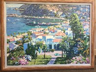 Catalina Island - Embellished Limited Edition Print by Howard Behrens - 1
